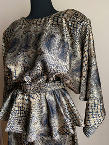 Snakeprint Peplum Dress (Med)