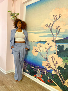 Vintage Cornflower Blue Suit (Lrg+)