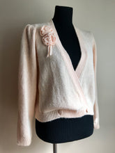 Load image into Gallery viewer, Vintage 80's Powder Pink Wrap Sweater (one size)