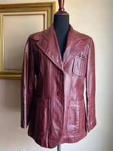 Load image into Gallery viewer, Vintage Etienne Aigner Leather Jacket (Med)