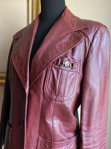Vintage Etienne Aigner Leather Jacket (Med)