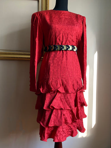 Red Dot Vintage Stanley Platos Dress (Med)