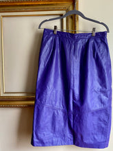 Load image into Gallery viewer, Purple Rain Leather Skirt (Lrg)