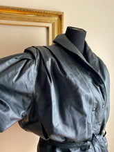 Load image into Gallery viewer, 80's leather jacket with shoulder detailing (Sml/Med)