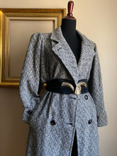 Load image into Gallery viewer, Chevron Tweed Coat (Med)