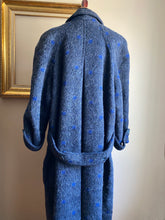 Load image into Gallery viewer, Blue Polkadot Saks 5th Coat (Med)