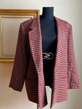 Load image into Gallery viewer, Red Plaid Blazer (Plus Size)
