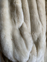 Load image into Gallery viewer, Winter White Faux Fur Coat (Med+)