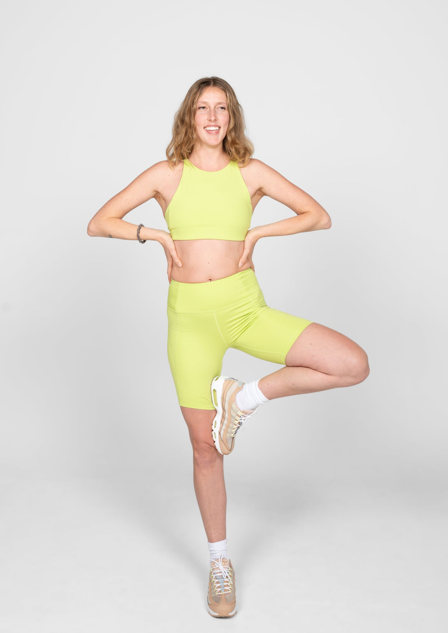 Girlfriend Collective High Rise Bike Shorts Lime