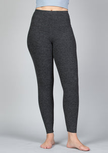 high waist ankle length legging in charcoal color