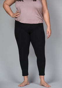 high waist ankle length legging in dark grey