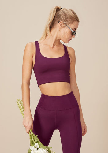 Girlfriend Collective Paloma Bra Plum