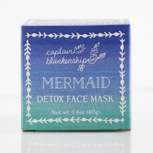 Load image into Gallery viewer, Captain Blankenship mermaid detox face mask in box