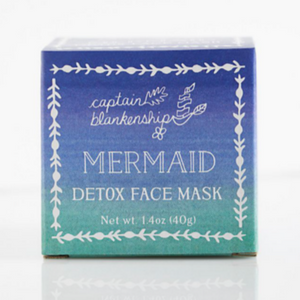 Captain Blankenship mermaid detox face mask in box