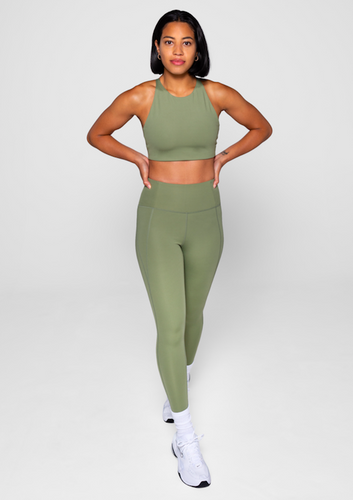 Girlfriend Collective High Rise Legging Olive