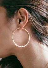 Load image into Gallery viewer, Amano Studio Gold Hammered Hoops