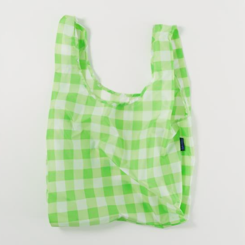 standard bag in big check lime pattern