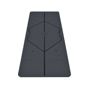 Grey rubber liforme mat with alignment cues