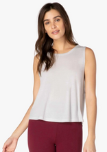 Load image into Gallery viewer, light grey loose fitting tank top