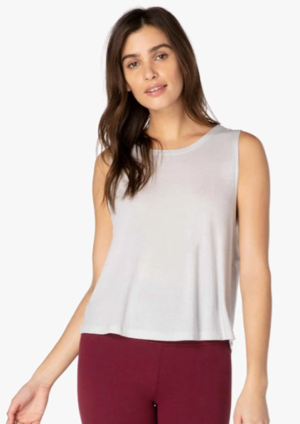 light grey loose fitting tank top