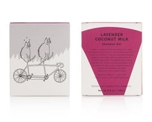 Load image into Gallery viewer, Meow Meow Tweet Lavender Coconut Milk Shampoo Bar