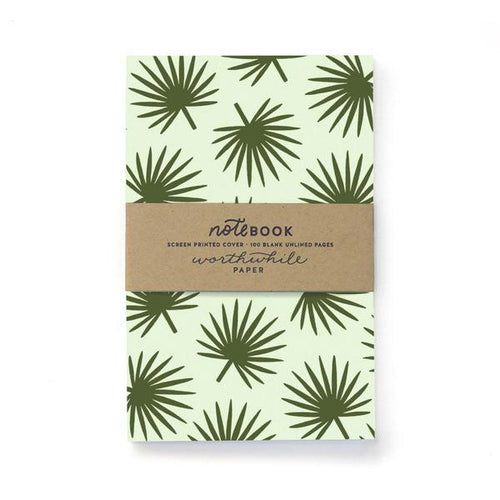 Worthwhile Paper Pattern Notebook Palm Fronds