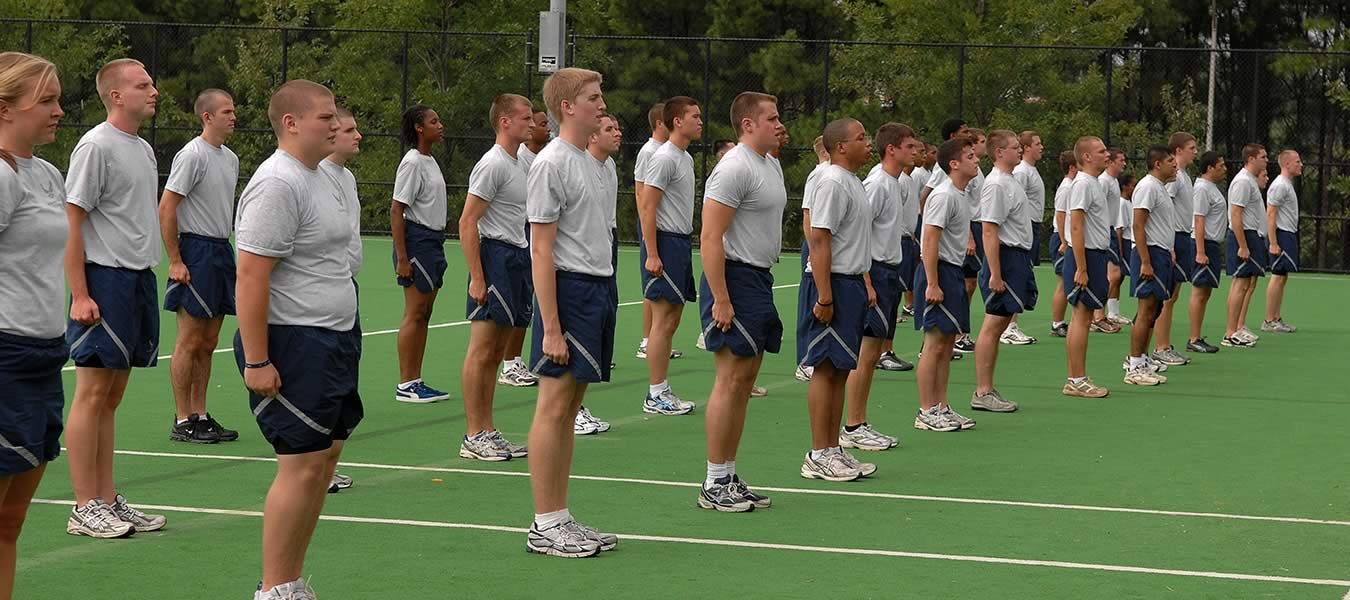 ROTC kids workout