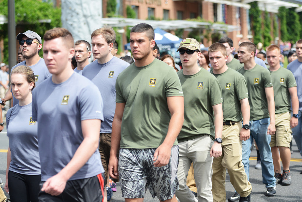 Army recruits motivated