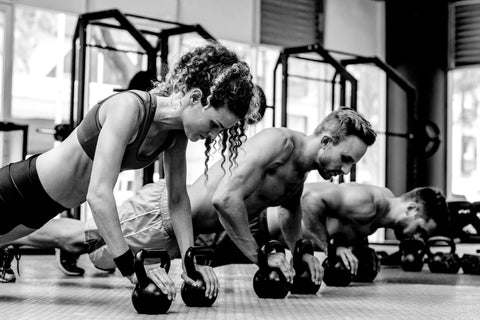 CrossFit leaders in  action