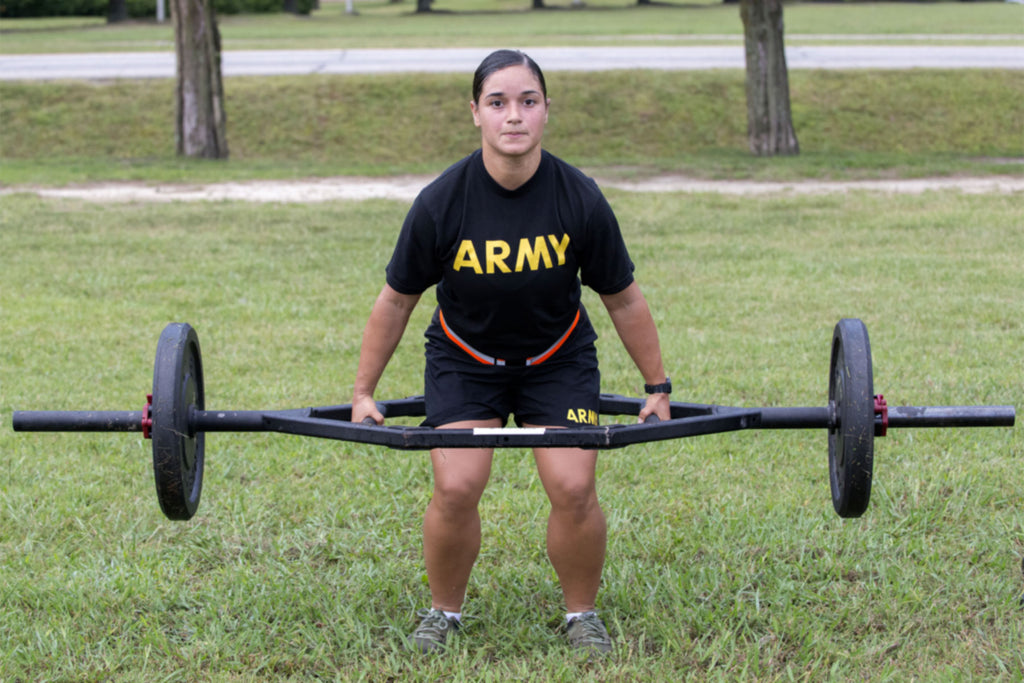Soldier deadlifts for ACFT