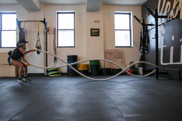 Home fitness equipment setup