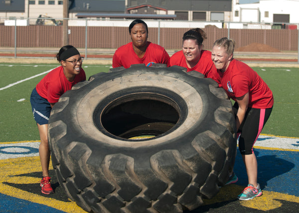 Group Tire Flip Exercise