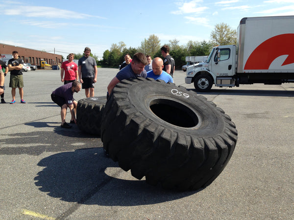 Tire Flip CrossFit Exercise