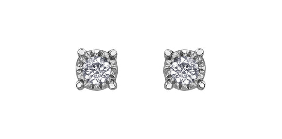 Illuminaire Diamond Stud Earrings