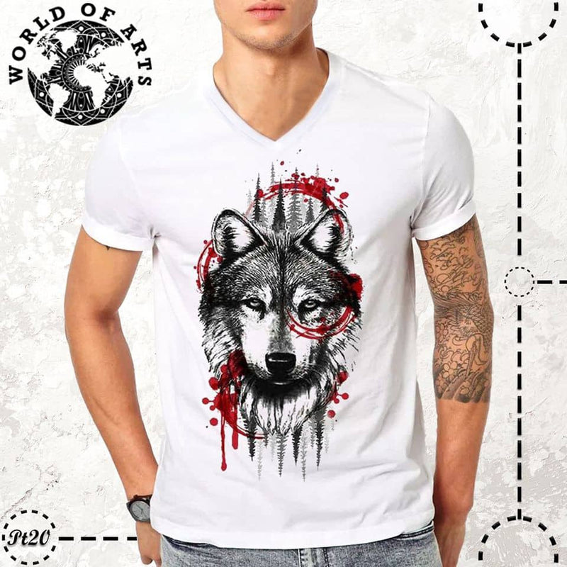 Wolf red sketching T-Shirt