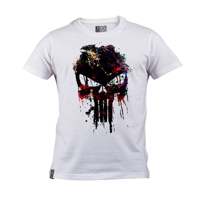 Colored Skull  T-Shirt