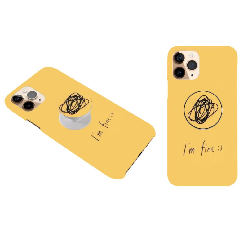 I'm Fine Cover with Popsocket