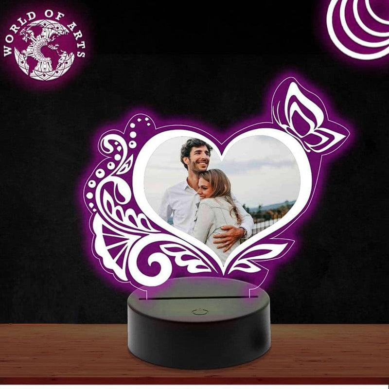 Pattern heart picture 3D led lamp