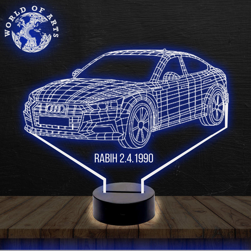 Audi Car 3D led lamp