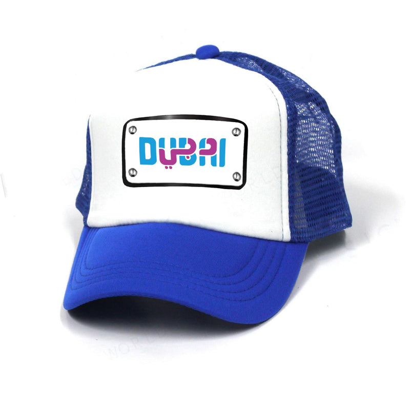 Dubai Design blue white cap