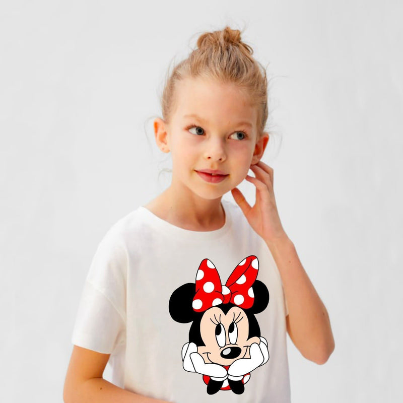 Minnie Mouse Girls white t-shirt for kids