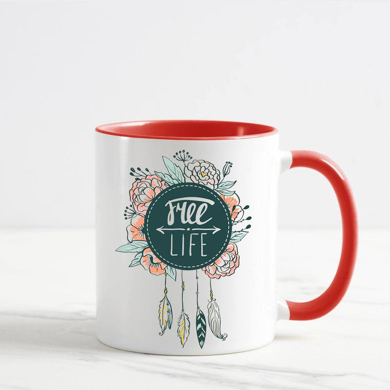 Free Life Dream Catcher Mug