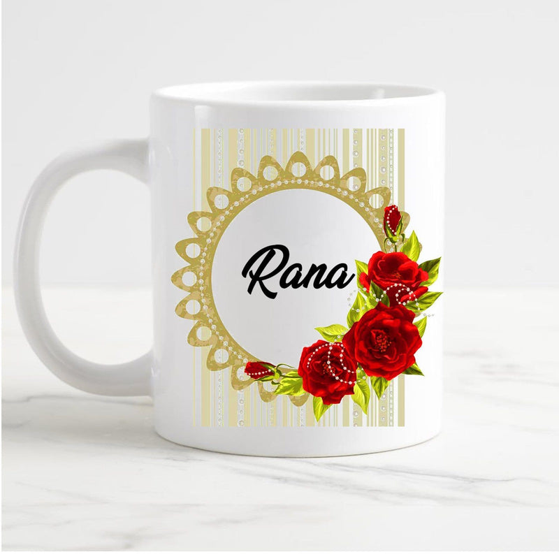 Customized Red Flower Mug