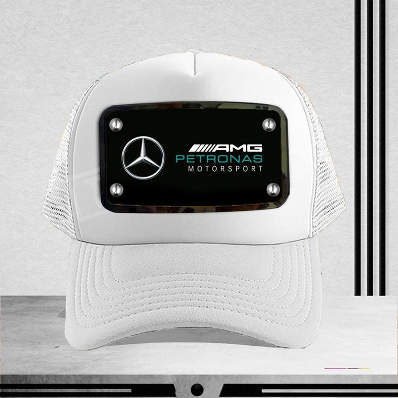 White AMG Customized Cap
