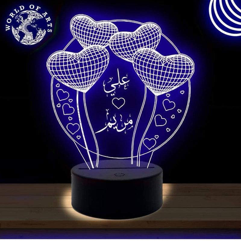 Love circle 3D led lamp