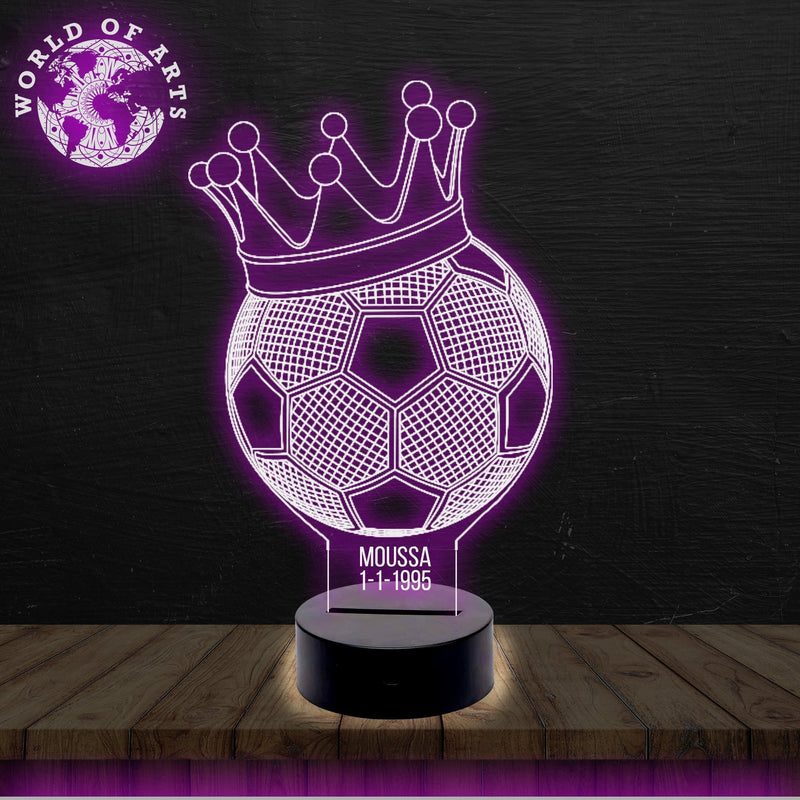 king of Football 3D ILLUSION LAMP