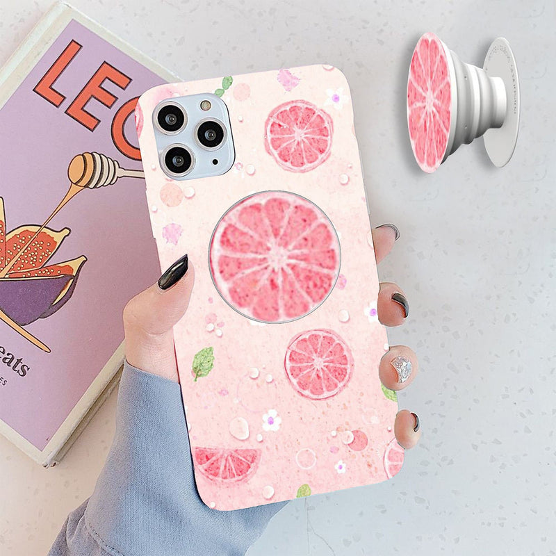 pink Orange Cover with Popsocket