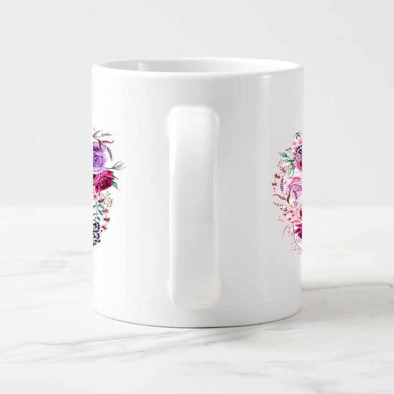 Name in Flower arc White Mug