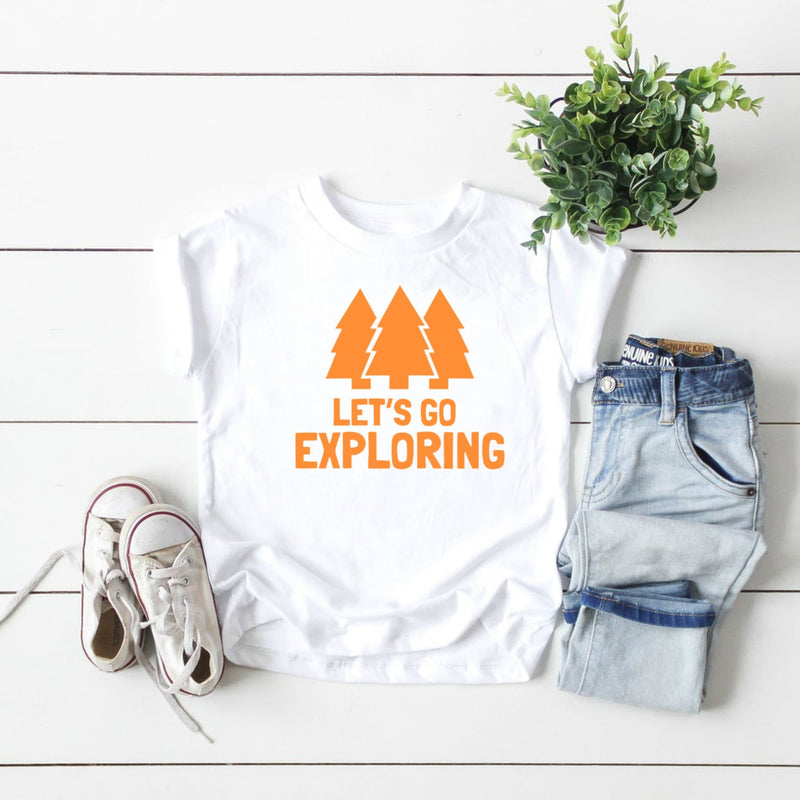 Let's Go Exploring Boy Kids T-shirt