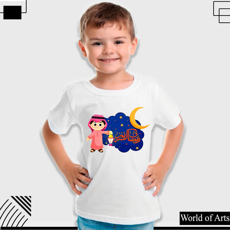 Moon Ramadan Boys T-shirt for kids